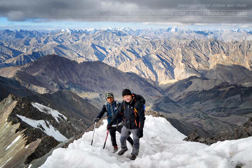 Summit of Stok Kangri, mountaineering in Ladakh