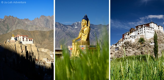 Indus valley monasteries in Ladakh: Lamayuru, Likir and Spituk