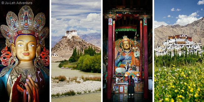 Indus valley monasteries in Ladakh: Stakna, Hemis and Thiksey